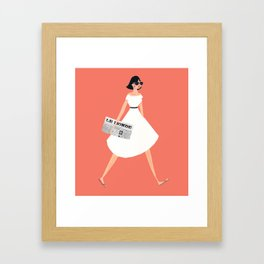 Sunday Paper Framed Art Print