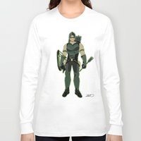 green arrow Long Sleeve T-shirts featuring Green Arrow by The Vector Studio