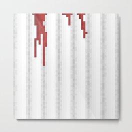 Pixel Blood Shower Curtain Metal Print