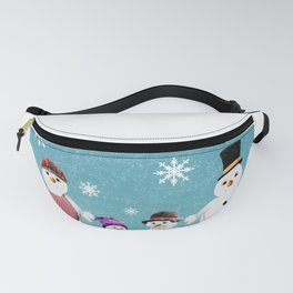 Christmas Snow Family Fanny Pack
