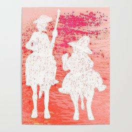quixote and his friend Poster