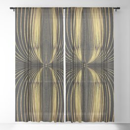 Golden Streamers Sheer Curtain
