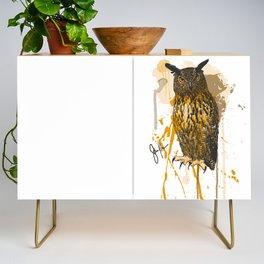 Brutus Eurasian Eagle Owl Credenza