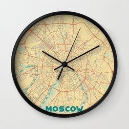 Moscow Map Retro Wall Clock