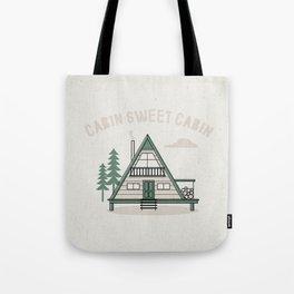 Cabin Sweet Cabin Tote Bag