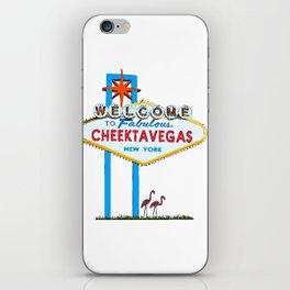 Welcome to Cheektavegas iPhone Skin