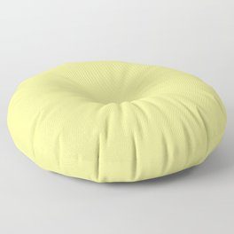 Bright Solid Retro Yellow - Color Therapy Floor Pillow