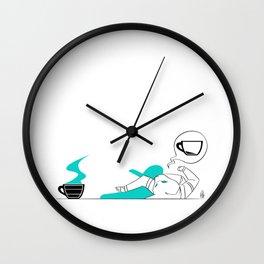 I Need Coffee (Colored) Wall Clock
