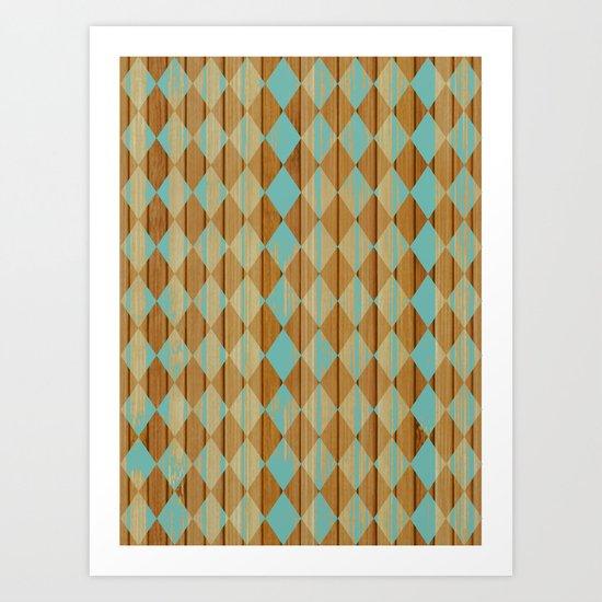 Wooden Mint  Art Print