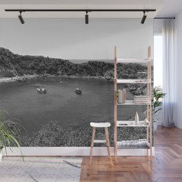 Rhodes Greece Anthony Quinn Bay black white Wall Mural