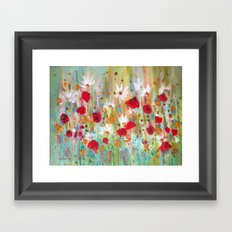 A summer meadow Framed Art Print