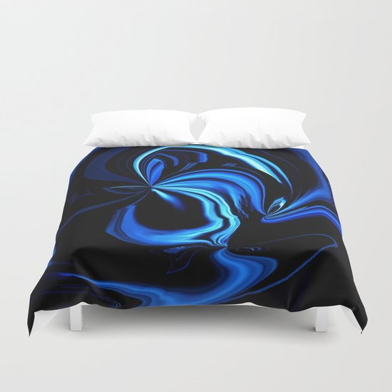 Blue Butterfly Abstract Duvet Cover