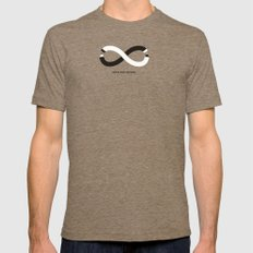 Never stop creating (the infinity pencil) Mens Fitted Tee Tri-Coffee X-LARGE