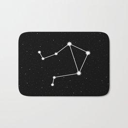 Libra Star Sign Night Sky Bath Mat