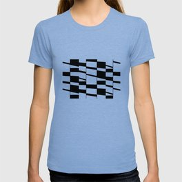Slanting Rectangles - Black and White Graphic Art by Menega Sabidussi T-shirt