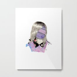 Marble Face Metal Print