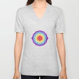 7 Chakra Mandala - WO Colored Unisex V-Neck