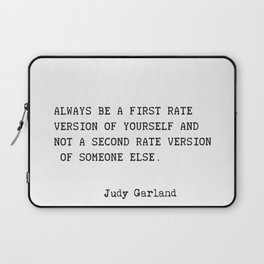 Judy Garland quote Laptop Sleeve