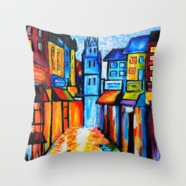 By The Old Church Throw Pillow