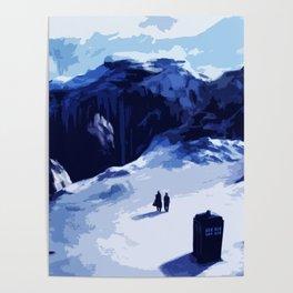 Tardis Art At The Snow Mountain Poster