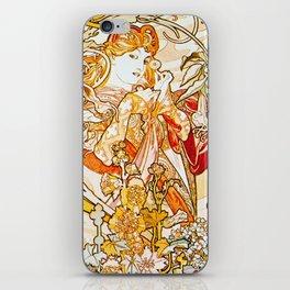 Alphonse Mucha - Woman with Daisy iPhone Skin