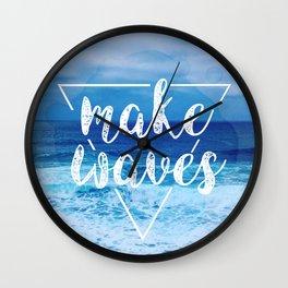 Make Waves Wall Clock