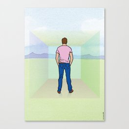 I didn't see the walls and I thought I was free. Canvas Print