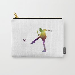 man soccer football player 15 Carry-All Pouch