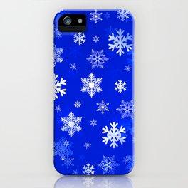Light Blue Snowflakes iPhone Case