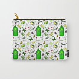 Colourful Gin Cocktails and Ingredients Cocktail Bar Pattern Carry-All Pouch