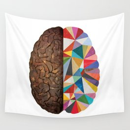 Geometric Brain Wall Tapestry