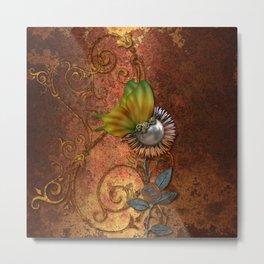 Steampunk butterfly Metal Print