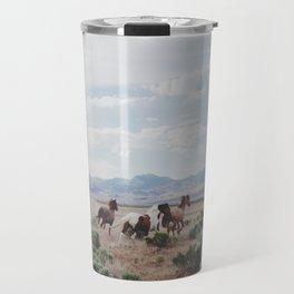 Running Horses Travel Mug
