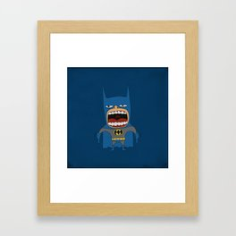 Screaming Batdude Framed Art Print