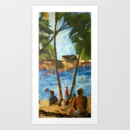 """Welcome to Streets Beach"" Art Print"