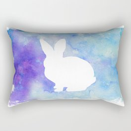 Bunny Painted Silhouette Rectangular Pillow