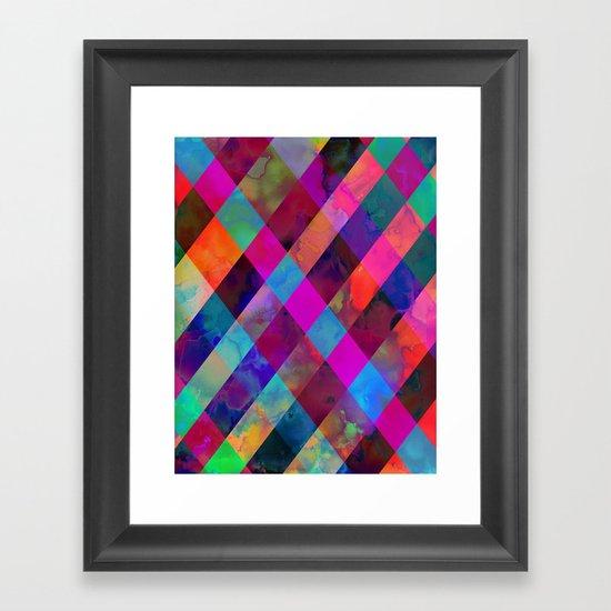 Rio Plaid Framed Art Print