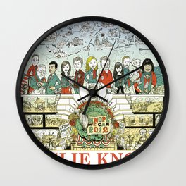 Leslie Knope for City Council - Parks and Recreation Dept. Wall Clock