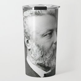 portrait of Jules Verne by Nadar Travel Mug