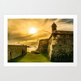 San Juan Puerto Rico Wall Sunset Art Print