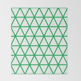 Green Triangle Pattern 2 Throw Blanket