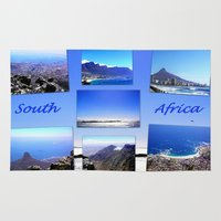 south africa Area & Throw Rugs featuring South Africa Landscape by Art-Motiva