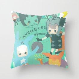 Avengers Assemble. Throw Pillow