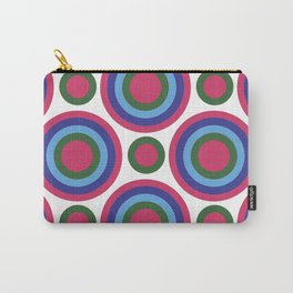 Circle Circle:  Fuchsia, Kelly Green, Turquoise + Blue Carry-All Pouch