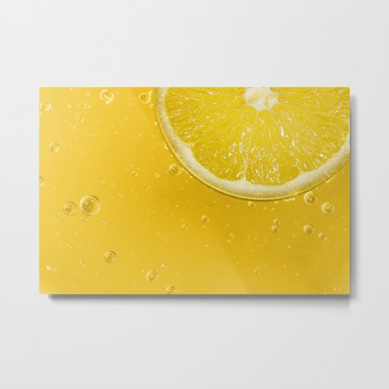 Lemon Thirst Quencher Metal Print