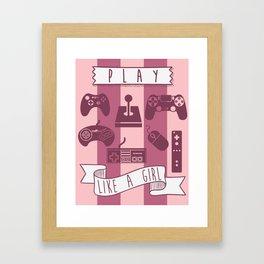 Play Like A Girl  Framed Art Print
