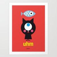 Uhm...Cat Art Print