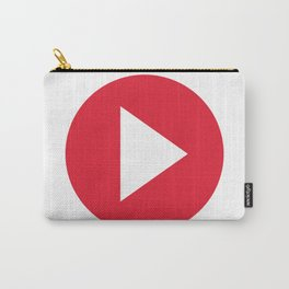 Red Video Play Button Carry-All Pouch
