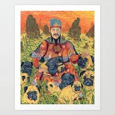 Pug Emperor Art Print