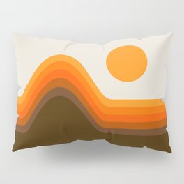 Golden Horizon Diptych - Left Side Pillow Sham